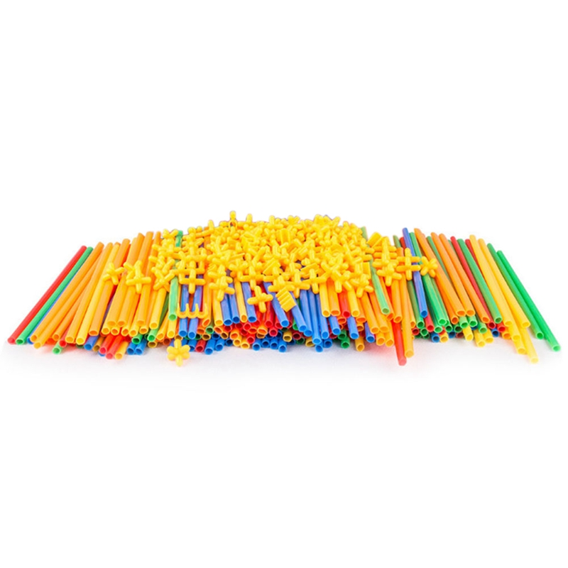 4D Space Straw Stitching Assembly Buliding Blocks Toys ChildrenS Puzzle Straws Pipette Toy