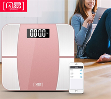 лучшая цена NEW Bluetooth scales floor Body Weight Bathroom Scale Smart Backlit Display Scale Body Weight Body Fat Water Muscle Mass BMI