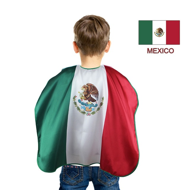 D q z l27 child world cup cape mexico flag decorations cloak olympic international festival football fan