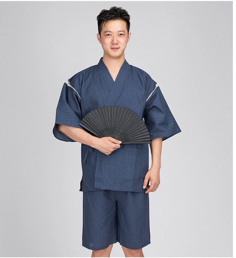 2017 Summer Men Cotton Yukata Kimono Suit Men Japan Traditional Pajamas set Male Japanese Traditional Pajamas set 061601