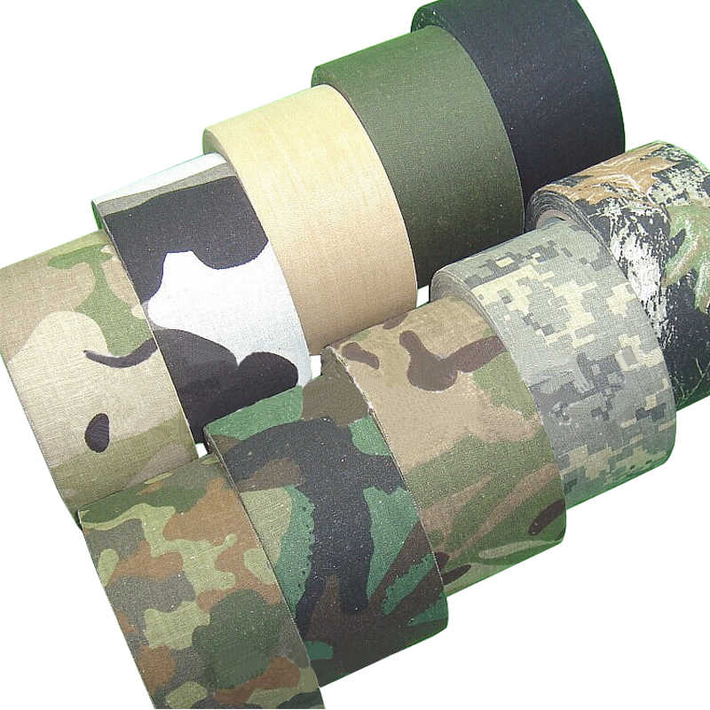 5M Outdoor Duct Camouflage Tape Wrap Jacht Waterdichte Lijm Camo Tape Stealth Bandage Militaire 0.05 M X 5M/2 Inch X 196 Inch