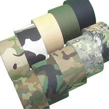 Nastro adesivo mimetico da 5M per uso esterno, nastro adesivo mimetico impermeabile da caccia, bendaggio invisibile militare 0.05m x 5m /2 pollici x 196 pollici