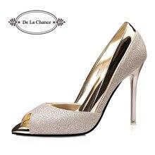 Glitter Sandals Fashion Open Peep Toe High Heels Female Shoes New Ladies  Spring Summer Shoe Women Sandals Wedding Shoes Gold 4ca1963e08e2