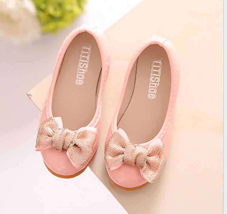 Kids Baby Girls Wedding White Dress Leather Shoes 2018 New Tie Fashion Toddler Girls Glitter Princess Party School Shoes 23