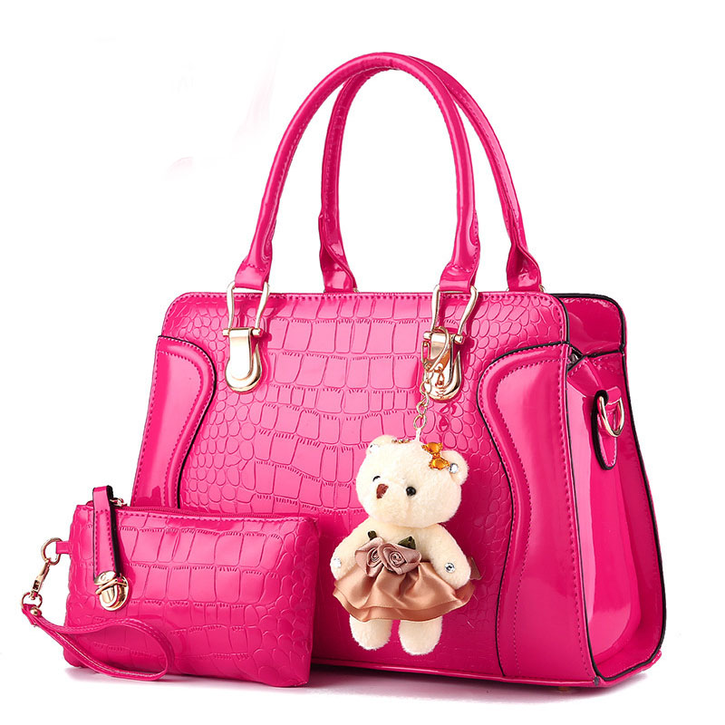 Women Bag With Bear Toy Fashion Handbag Women Hand Bag Women Messenger Shoulder