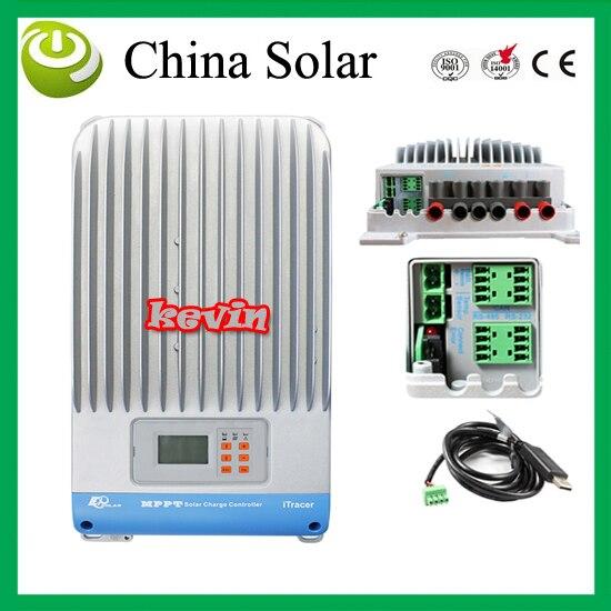 Solar Charge Controller MPPT 60A,LCD MPPT charger controller solar panel battery Light and dual timer 12V 24V 36V 48V