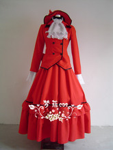 Free shipping New Custom made Black Butler Madam Red Party Dress Costumes Anime Cosplay Costume for Halloween
