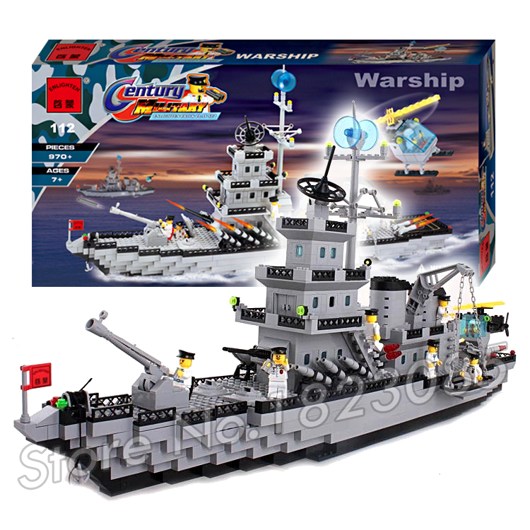 970pcs 2016 new Hot New CombatZones Warship large model Christmas Gift Building Blocks toys Compatible With Lego 2016 extra large 3d printer with 400x400x470mm building envelope