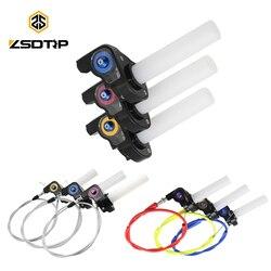ZSDTRP 22mm uchwyty osiedlić Twist zacisk przepustnicy z tworzywa sztucznego z przewód przepustnicy do motocykla Pit motor terenowy Motocross ATV Off road