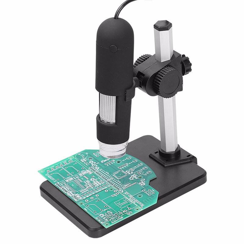 Купить 1000X Зум Usb-микроскоп 8 LED Компактный Эндоскоп Лупа Цифровая Видеокамера Микроскоп с Взлет и Падение Держатель Третьей Стороны дешево