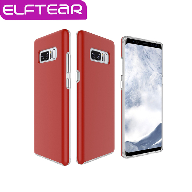 promo code 082e7 bc4a4 ELFTEAR Luxury Hard PC+Soft TPU Phone Case For Samsung Galaxy Note 8  Shockproof Matte Design Solid Color Phone Back Cover Coque-in Fitted Cases  from ...