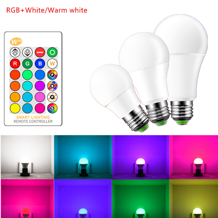 Ampoule Led 3w Led Lamp E27 Rgb Led Bulb B22 3w 5w 10w Rgbw Dimmable Ampoule Led Smart Lights For Home Holiday Decoration With Remote Control In Led Bulbs Tubes