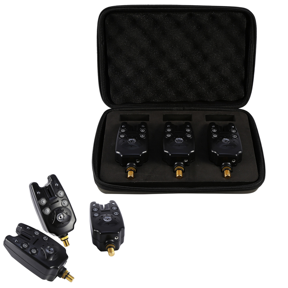 3pcs/Box Wireless Fishing Bite Alarm Set LED Swingers Sensitivity Alert Sound Fish Bite Bell Alarm Indicator Carp Fishing Tool