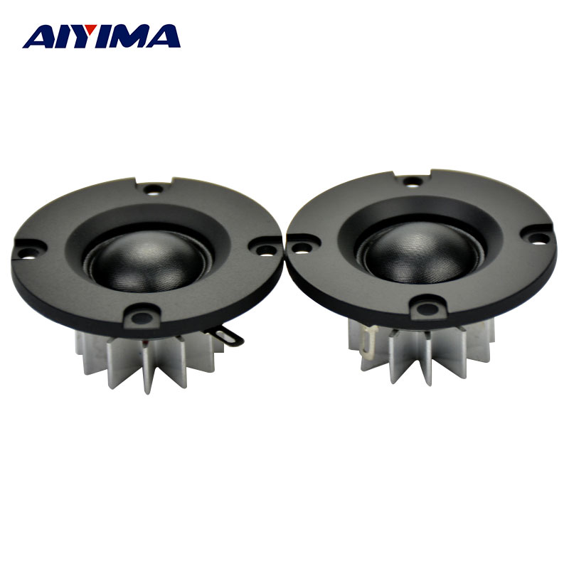 AIYIMA 2Pcs 2Inch Audio Portable Speakers HIFI Tweeter 50MM 6Ohm 25W Speaker ABS Frost Panel DIY