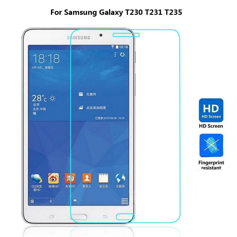 9 H закаленное Стекло Экран протектор Плёнки для Samsung Galaxy Tab 4 tab4 7.0 T230 T231 T235 + спирта ткань + Пыли Амортизатора ...