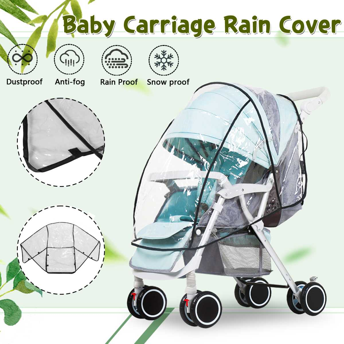 Waterproof Raincover For Stroller Prams Cart Dust Raincoat Rain Cover For Baby Stroller Pushchairs Accessories Baby Carriages S
