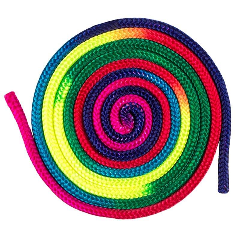 Sports Gym Rainbow Color Rhythmic Gymnastics Rope Solid Competition Arts Training Rope Gymnastics Rope