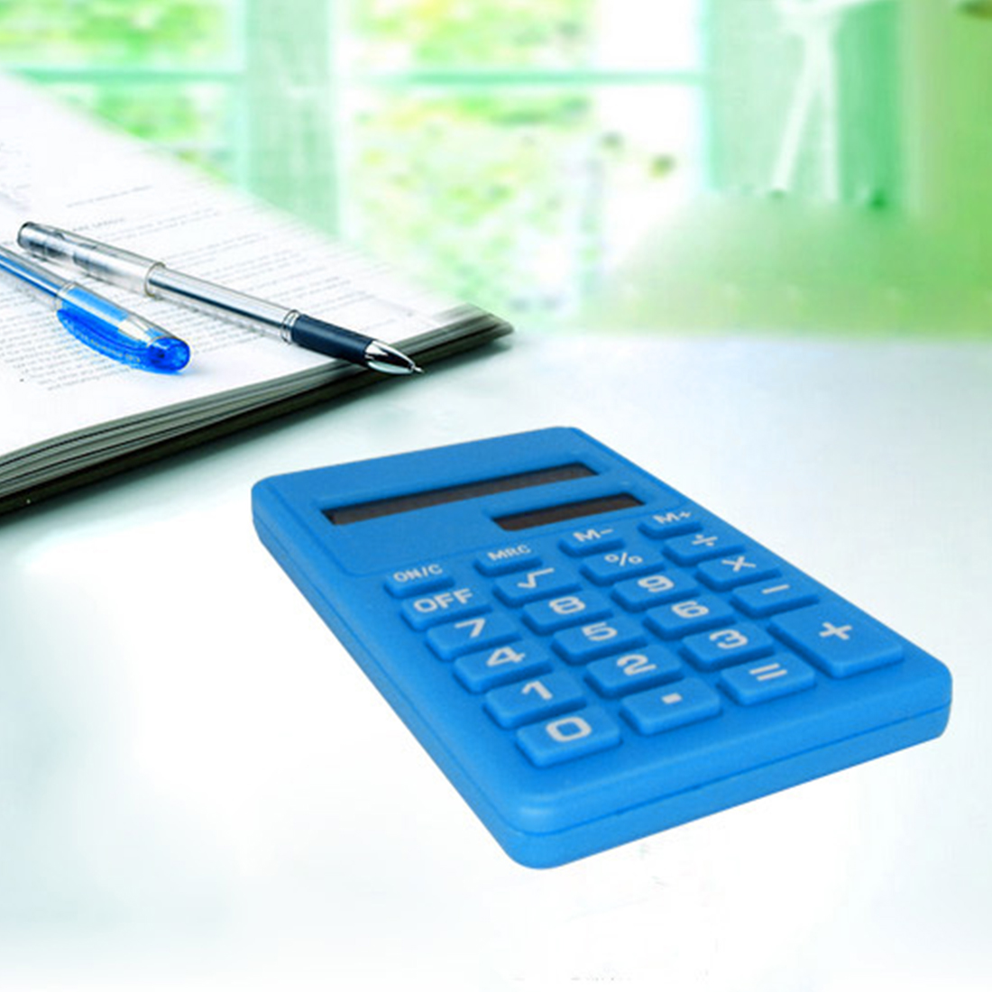 Etmakit New Cartoon Mini Calculator 8 Digits Display Dual Power Supply Cute Candy Calculadora Solar