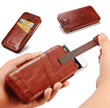 ICARER for Apple iPhone 6 6s Vintage Straight Leather Case for iPhone 6 6s Plus Case