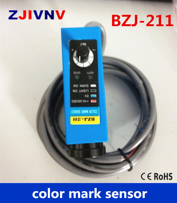 BZJ-211 Packing Machine photocell switch color mark Sensors Auto tracking/rectify deviation, auto detection photoelectric eyes color mark sensor photoelectric switch for packing machine bzj 313