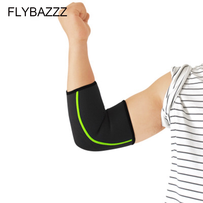 FLYBAZZZ 1Pcs Elbow Support Sleeve Elbow Protector Weightlifting Volleyball Tennis Arm Brace Elbows Pads Basketball Running Pad in Elbow Knee Pads from Sports Entertainment