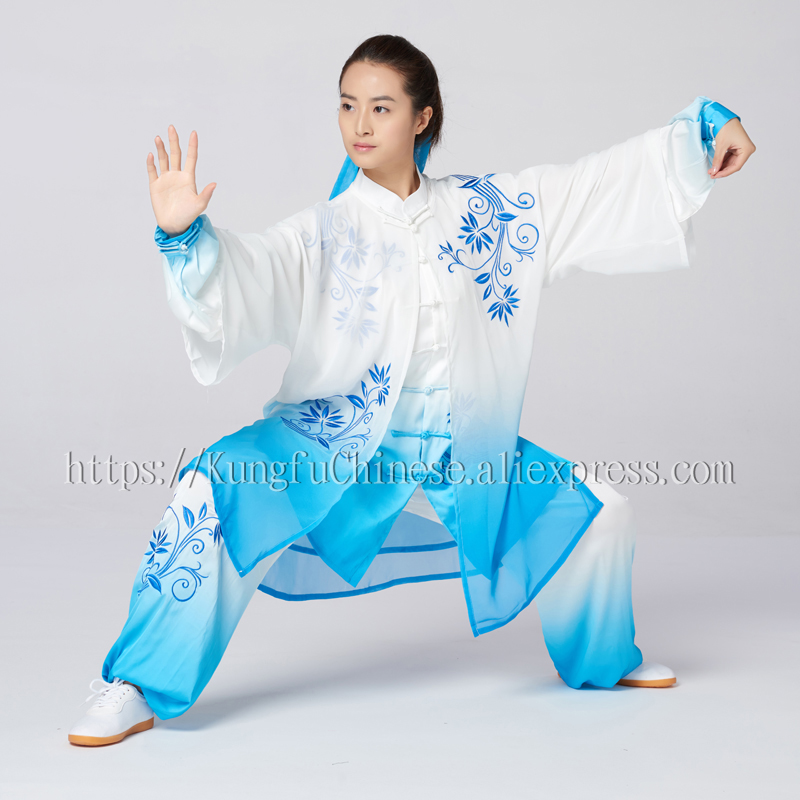 Home Chinese Tai Chi Clothing Taiji Sword Suit Performance Wushu Uniform Kungfu Outfit For Women Men Children Boy Girl Kids Adults