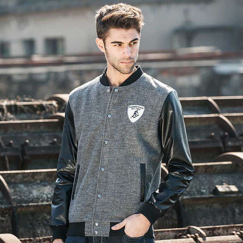 파이어 니어 캠프 새로운 가을 겨울 남성 재킷 패션 카디건 코트 가죽 재킷 야구 남자 폭격기 재킷 622022