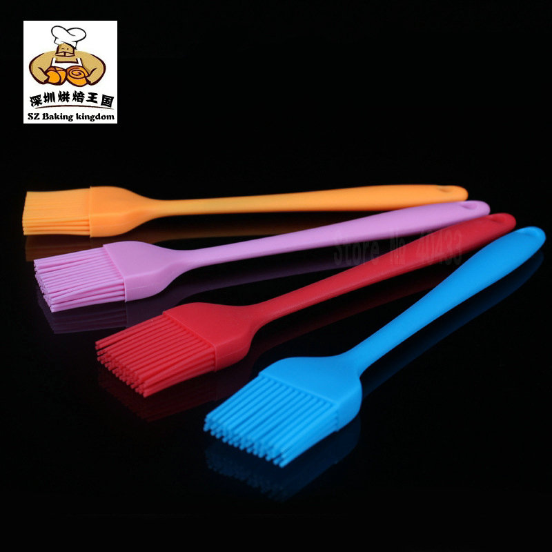 Silicone Basting Brush BBQ Grill Oil Sauce Brush Kitchen Tools Comfortable Handles Durable in Basting Brushes from Home Garden