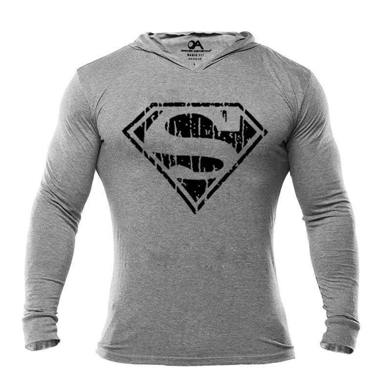 a6168dd7 ... OA Men's Fitness Men's Hoodies Vintage Superman Hooded Gym Bodybuilding  Pullovers Muscle Fit Hoodies Sweatshirts ...