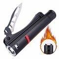 Skyfire à prova d' água led lanterna com carregador usb e carregador de bateria recarregável 18650 led autodefesa faca arc fogo mais leve