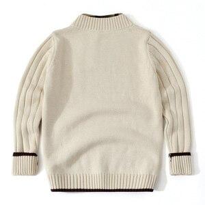 Image 4 - Jersey para adolescente, ropa de punto, cárdigan de manga larga para niño y adolescente, suéter para niño pequeño, Tops blancos para niño de 3 a 12 años