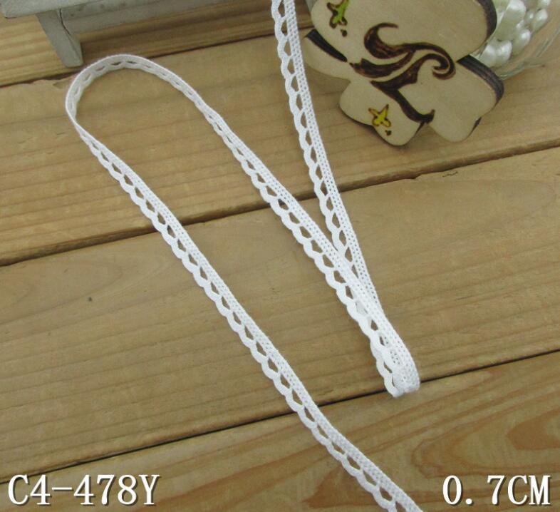 400 metrów 100% bawełna materiał białe bawełniane koronki wykończenia odzież dekoracyjne ręcznie robione Patchwork DIY Craft koronki Hometexile do szycia w Koronka od Dom i ogród na  Grupa 1