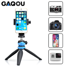 GAQOU Flexible Mini Tripod for Phone with Mount Adapter Stand for iPhone Monopod Gopro Nikon DSLR Camera Mobile Octopus Tripods цена 2017