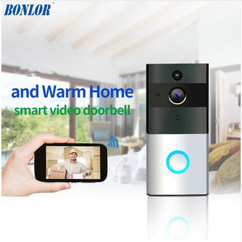 цена на 720P IP Camera Smart WIFI Door Bell Wireless Video Door Phone Night vision two way audio waterproof Home security baby monitor