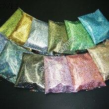 Голографический лазер 12 цветов устойчив к растворителям Майларовый блеск для дизайна ногтей гель Тени для век макияж сделай сам ручной ремесло украшения