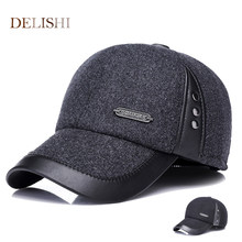 2018 Warm Winter spring Ear Flaps For Men Hat Thickened Baseball Cap With Ears  Men S Cotton Hat Snapback Hats 17ff5b2c4817