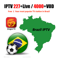 Brazilian IPTV Subscription 227+ Live Channels & 4000+ VOD Channels Latin America Brazil iptv For Smart Android TV BOX X96 mini