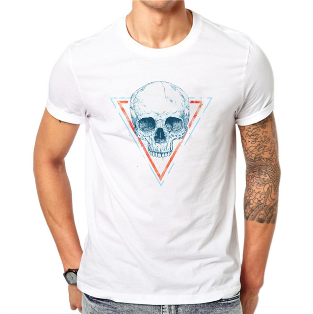TRIANGLE SKULL T-SHIRT