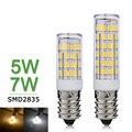 Mini Lámpara LED E14 5 W 7 W 220 V Bombillas LED Del Bulbo SMD2835 de Alta Brillante Araña de Cristal LED Del Maíz luz Luces de Refrigerador