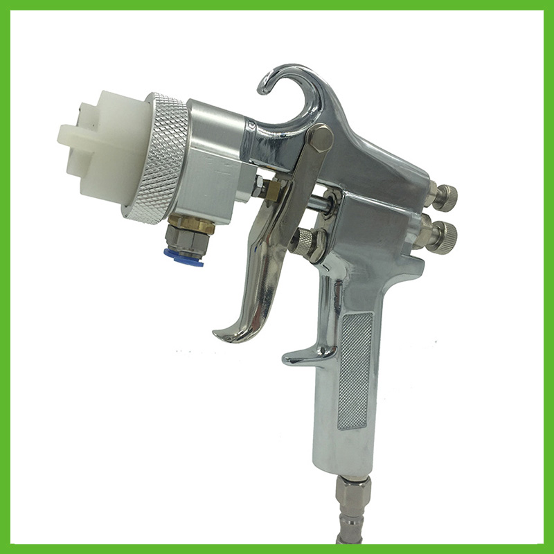 SAT1182 Professional High Quality Mirror Chrome Paint Adjustable Air Pressure Regulator Spray Gun Spray Foam Gun Machine Tools sat1215s air tools pneumatic gun paint spray gun auto chrome high pressure spray gun
