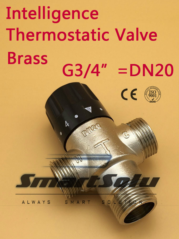 Free shipping Alibaba China Supplier Brass 3 4 DN20 Solar Heater Thermostatic Mixing Valve