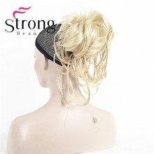 Strongbeauty 12 дюймов Регулируемый грязный Стиль хвостик Наращивание волос Синтетические волосы-часть с челюсти коготь выбор цвета