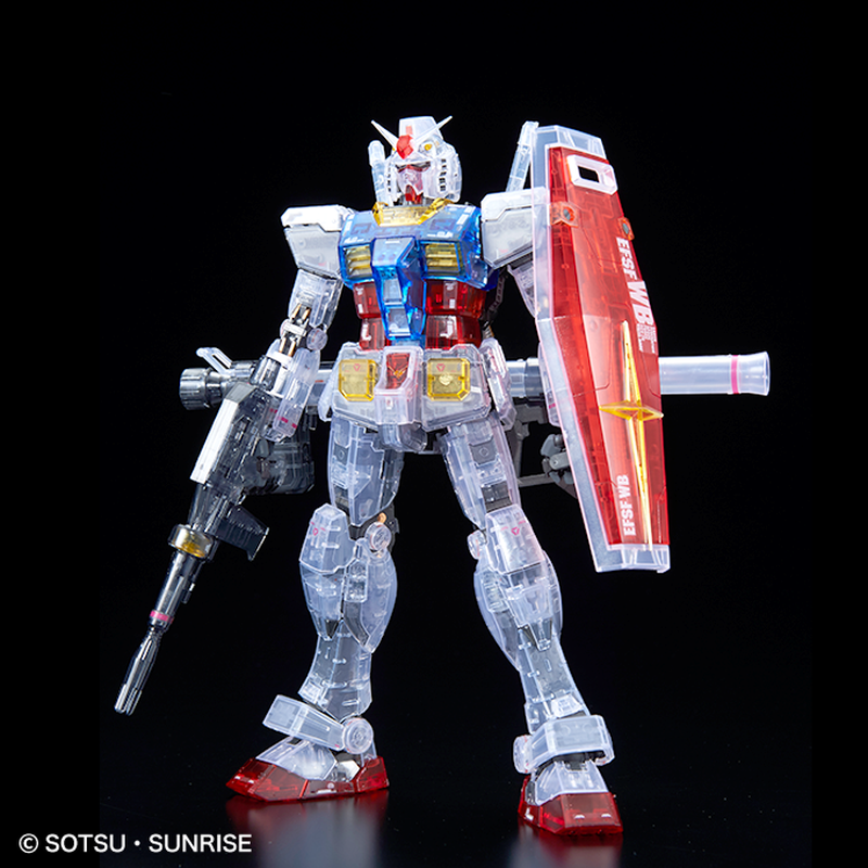 Здесь можно купить  Bandai Shanghai Tokyo Gundam Base Limited 1/100 MG RX-78-2 3.0 Color Transparent Action Figure Kids Assembling Toy Gifts  Игрушки и Хобби
