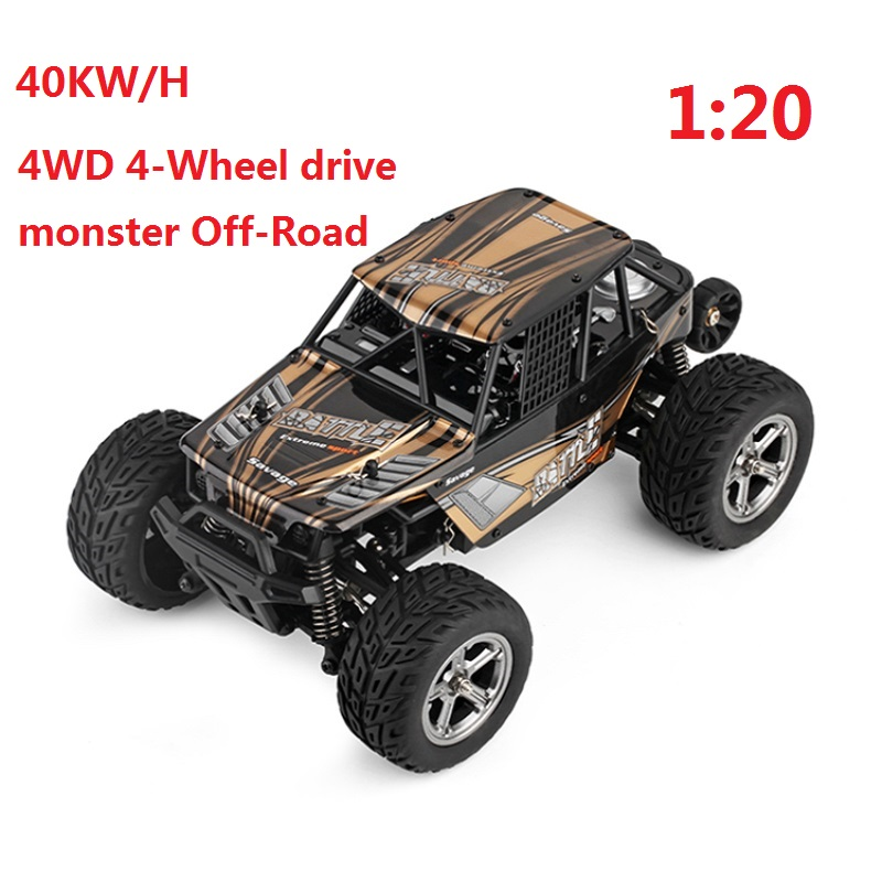 Здесь можно купить  40KM/H  1:20 4WD 2.4G drive monster Off-Road Electric High Speed 45km/h drift High Quality remote truck racing Rc truck  Игрушки и Хобби