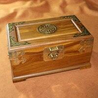 Винтаж Бразилии Verawood палисандр коробка для хранения шкатулка для Ожерелье Браслеты с косметическое зеркало кармашек с замком