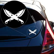 Hunter Bladedancer Decal Sticker for Car Window, Laptop and More. # 483 (4 X 5.8, White)