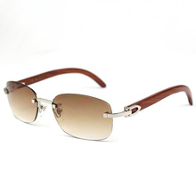 ФОТО vintage wood sunglass classic wholesale carter sunglasses rimless outdoor driving wooden sunglass goggle for men and women