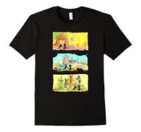 Rick Morty Runninger Silhouettes On Alien Land T Shirt Summer Style Funny Quality T Shirt New