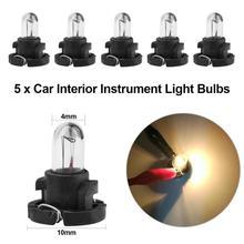 5Pcs T4 1.2W 12V Car Motorcyle Instrument Light Bulbs Lamp