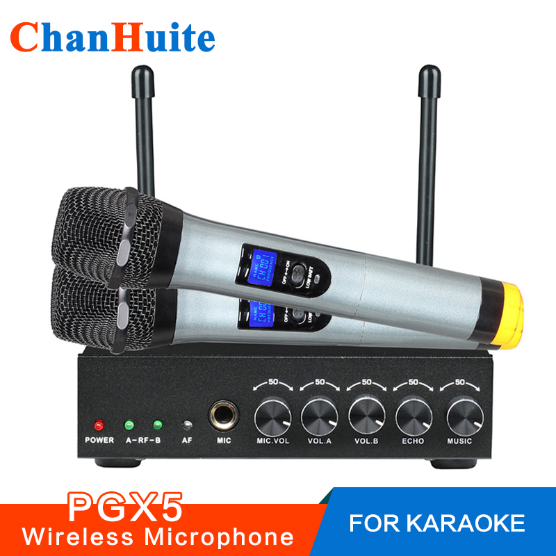 Excelvan PGX5 Wireless Microphone Karaoke Microphone Dual Mini Portable Wireless Bluetooth Microphone For PC Speaker Outdoor